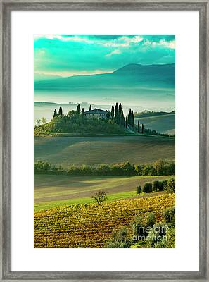 Framed Print featuring the photograph Belvedere - Tuscany II by Brian Jannsen