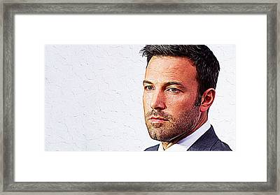 Ben Affleck Framed Print