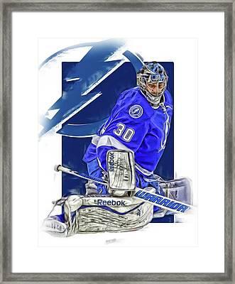Ben Bishop Tampa Bay Lightning Oil Art Framed Print