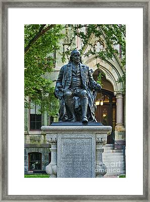 Ben Franklin At The University Of Pennsylvania Framed Print by John Greim