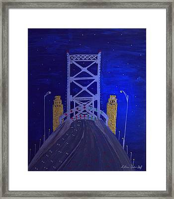 Ben Franklin Bridge Framed Print