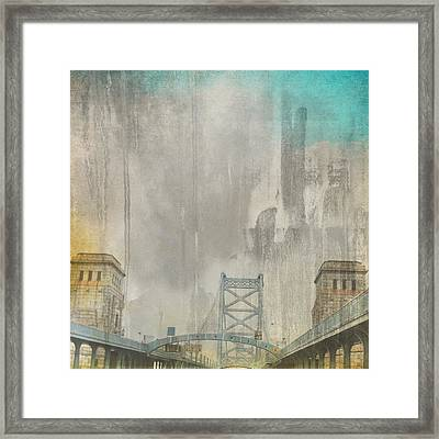 Ben Franklin Bridge Philadelphia Pa Framed Print