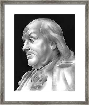 Ben Franklin Framed Print by Greg Joens