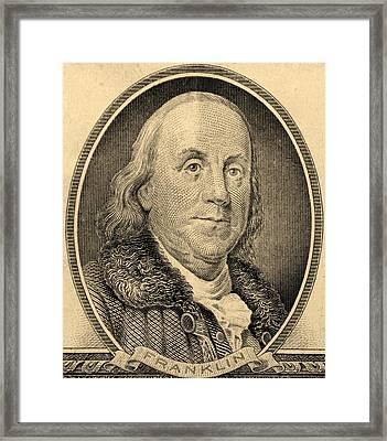 Ben Franklin In Sepia Framed Print