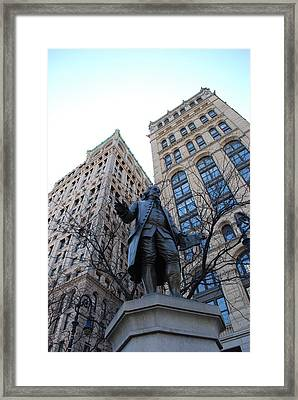Ben Franklin Framed Print by Rob Hans