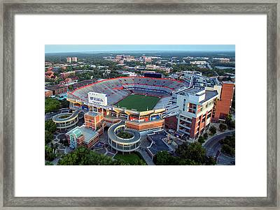Ben Hill Griffin Stadium - Home Of The U Of Florida Gators Football Team Framed Print by Daniel Hagerman