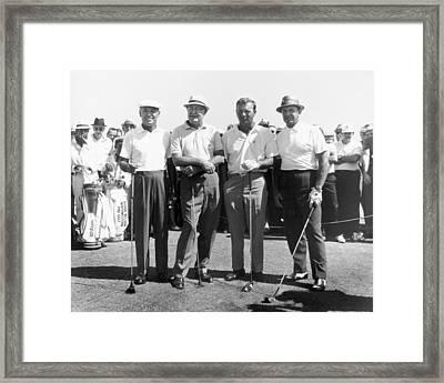 Ben Hogan, Byron Nelson, Sam Snead, Arnold Palmer Golfers Framed Print by Peter Nowell