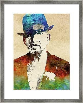 Ben Kingsley Framed Print by Mihaela Pater