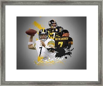 Ben Roethisberger Steelers Framed Print by Joe Hamilton