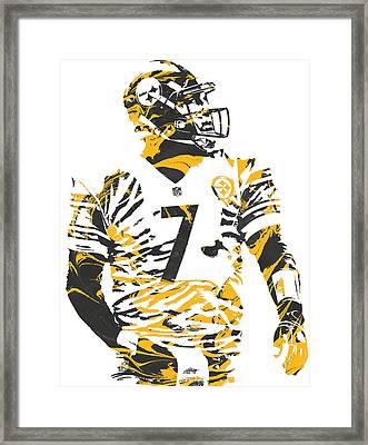 Ben Roethlisberger Pittsburgh Steelers Pixel Art 6 Framed Print by Joe Hamilton