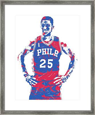 Ben Simmons Philadelphia Sixers Pixel Art 2 Framed Print