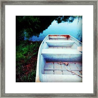 Rusted Boat Framed Print by Jen McKnight