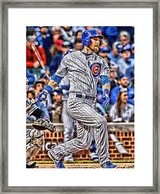Ben Zobrist Chicago Cubs Framed Print