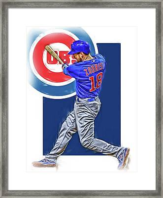 Ben Zobrist Chicago Cubs Oil Art Framed Print