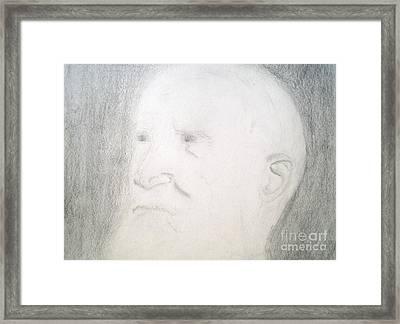Benard Shaw Sketch Framed Print by Josie Weir