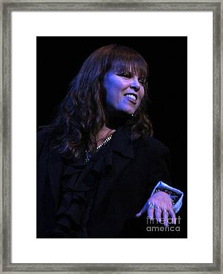 Benatar Live Framed Print by David Peters