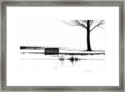 Bench 10 Framed Print by Julie Lueders