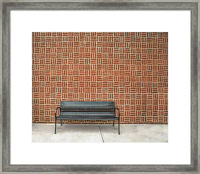 Framed Print featuring the photograph Bench 2017 02 by Jim Dollar