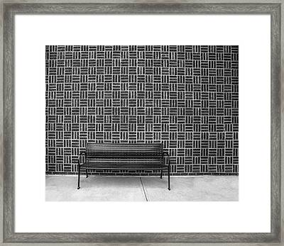 Framed Print featuring the photograph Bench 2017 Bw by Jim Dollar