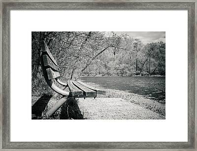 Bench By The Water Framed Print