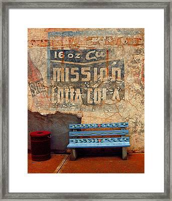 Bench Framed Print by John Gee