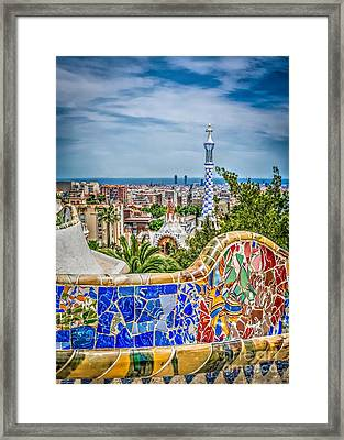 Bench Of Barcelona Framed Print