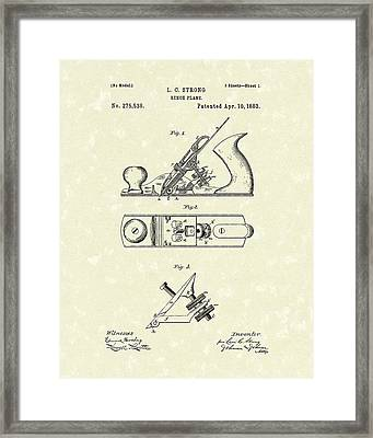 Bench Plane 1883 Patent Art Framed Print
