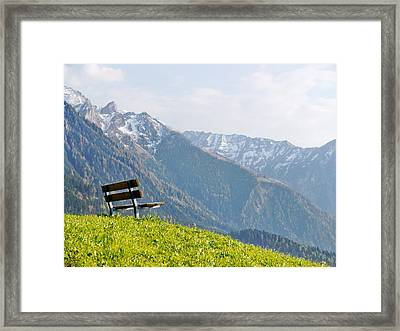 Bench Framed Print by Rolfo Eclaire