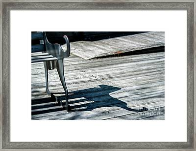 Bench Shadow Framed Print