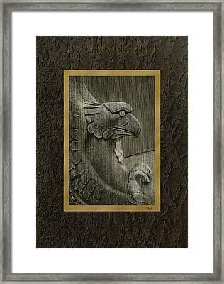 Benched Eagle Framed Print by Gordon Beck