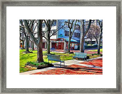Benches Framed Print by Stephen Younts