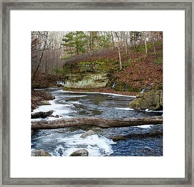 Bend In Creek Framed Print