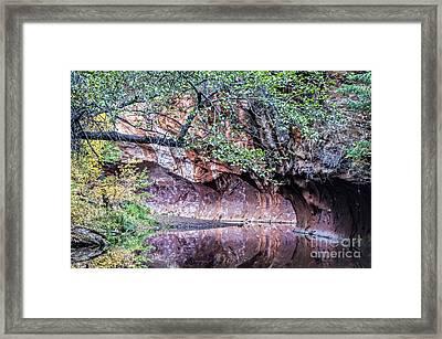 Bend In The Creek Framed Print by Brian Lambert