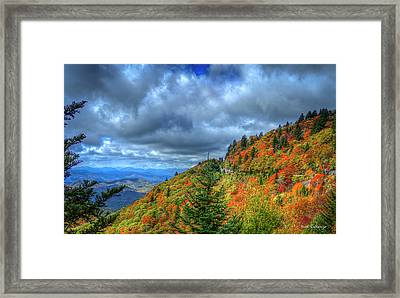 Bend In The Road Blue Ridge Parkway Art Framed Print