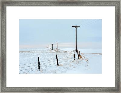 Bend In The Road Framed Print by Todd Klassy