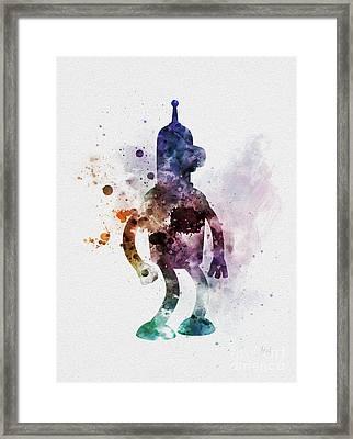 Bender Framed Print by Rebecca Jenkins