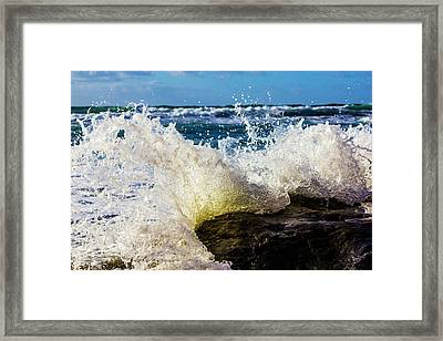 Wave Bending Backwards Framed Print