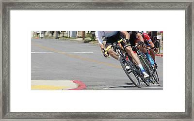 Bending Bikes  Framed Print by Steven Digman