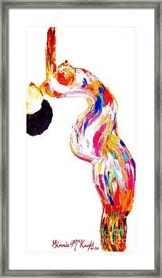 Bending But Not Breaking Framed Print by Ginnie McKnight