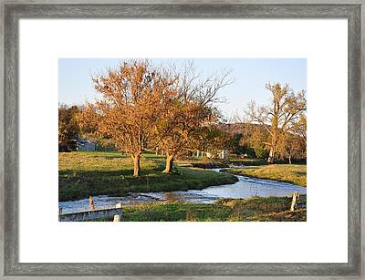 Bending Creek Framed Print