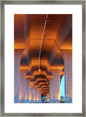 Bendy Bridge Framed Print