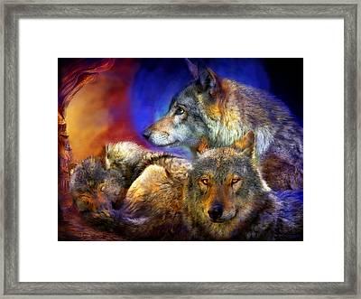 Beneath A Blue Moon Framed Print by Carol Cavalaris