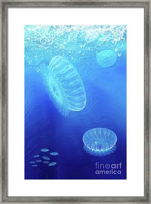 Beneath A Breaking Sea Framed Print