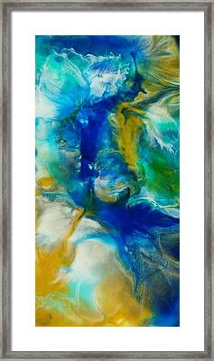 Framed Print featuring the mixed media Beneath  by Christie Minalga