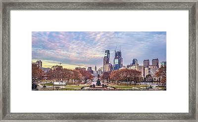 Beneath The Blushing Skies Framed Print by Evelina Kremsdorf