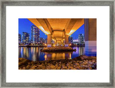 Beneath The Cambie Framed Print by Victor Andre