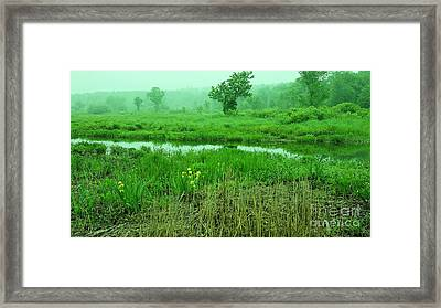 Beneath The Clouds Framed Print