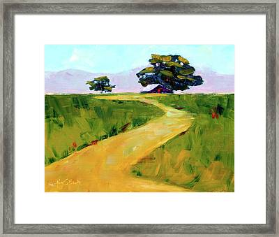 Beneath The Cottonwoods Framed Print