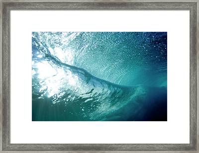 Beneath The Curl Framed Print