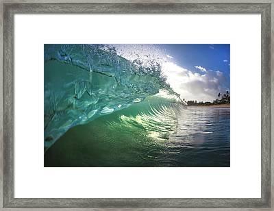 Beneath The Curl Framed Print by Sean Davey